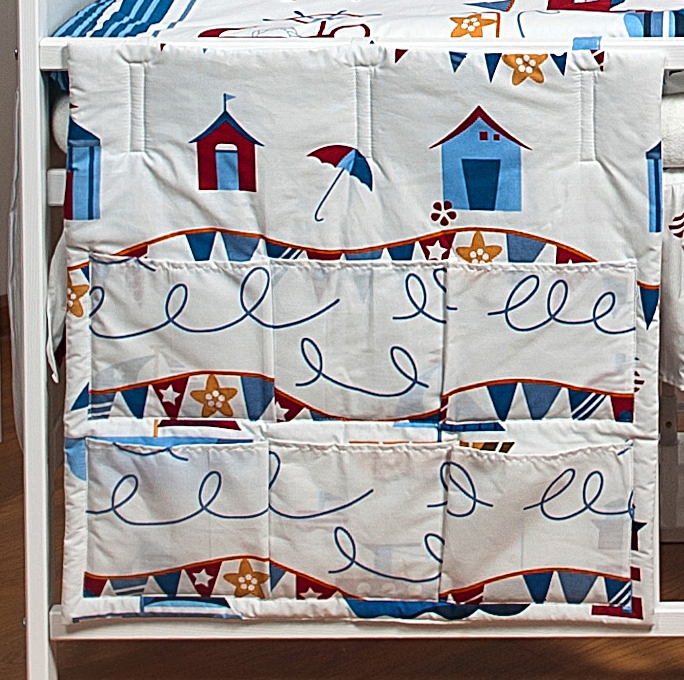 Cot bed TIDY, POCKET ORGANISER approx. 60x60cm, nursery bedding ...