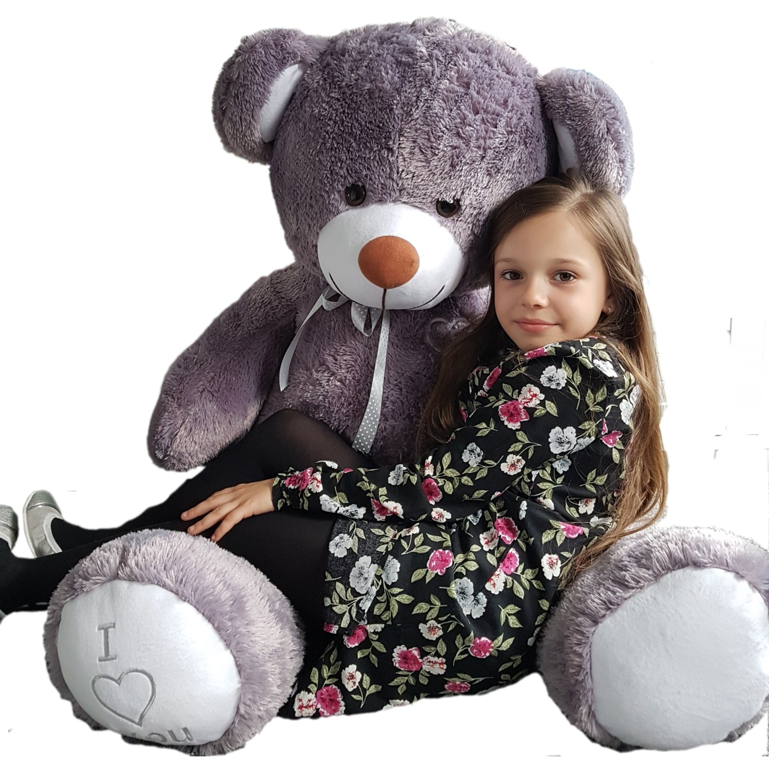 Teddybär Plüschbär Kuscheltier Stofftier Schmusebär Riesen Geschenkidee 160cm grau